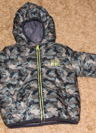 Теплая детская куртка baby club на 1-1.5 года ( 86 см)
