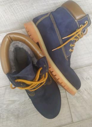 Зимние мужские ботинки кожа на меху Timberland оригинал