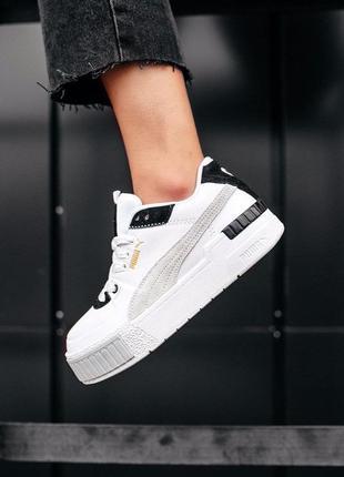 Кроссовки puma cali sport mix white black cod: 0351