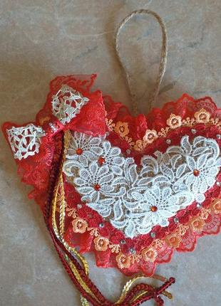 Декоративна подушка-серце авторська робота
