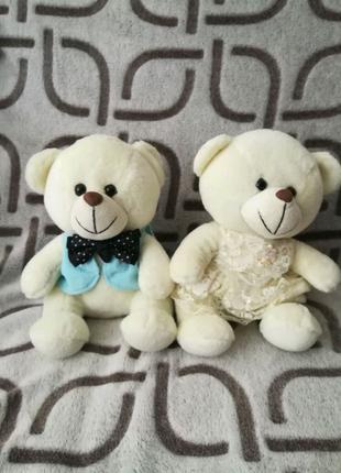 Ведмедики іграшки на весільну машину свадебные