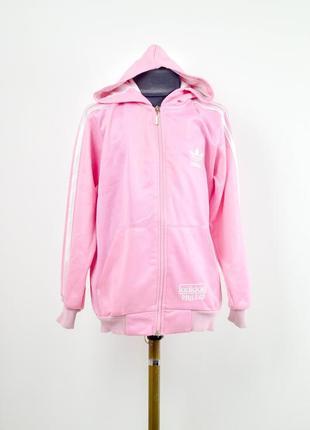 Акция adidas розовая олимпийка, спортивная куртка с капюшоном ...