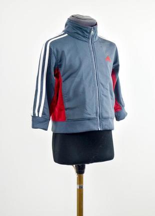 Adidas серая олимпийка в стиле колор-блок, спортивная куртка с...