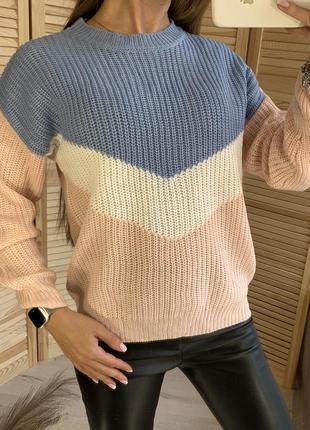 Мягенький свитер крупной вязки cropp town