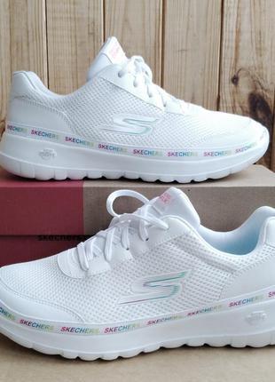 Шикарные белые удобные кроссовки skechers go walk joy оригинал