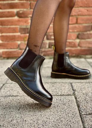 Шикарные кожаные ботинки dr. martens chelsea black унисекс 😍 (...