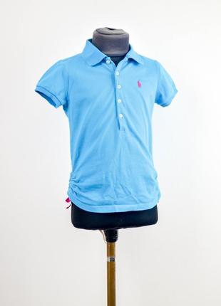 Акция polo ralph lauren голубая поло футболка с логотипом, тен...