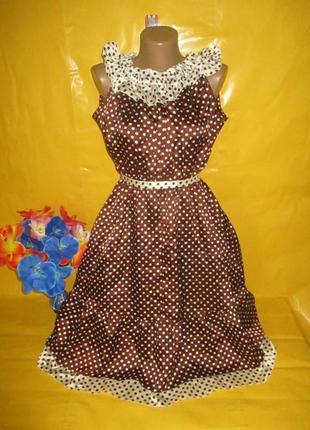 Очень красивое женское платье в горох