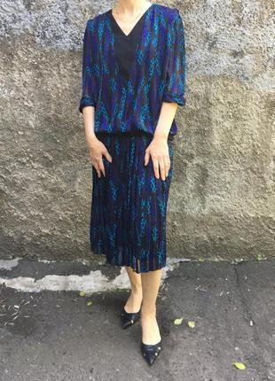 Винтажное платье в стиле 80-90 х годов