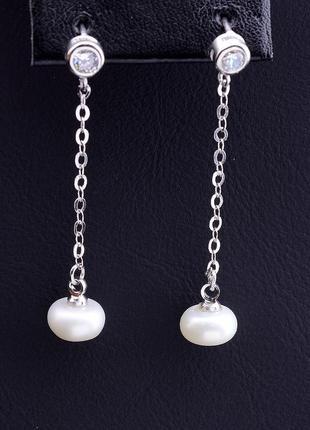 Серьги 'sunstones' жемчуг серебро(925) 0790420