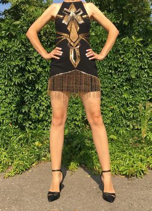 Короткое платье в стиле 20-30 х годов