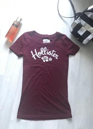 Hollister t-shirt burgundy  women майка оригинал