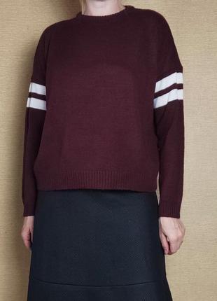 Свободный шерстяной свитер джемпер пуловер кофта