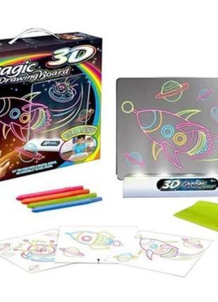 Детская Волшебная 3D доска для рисования с подсветкой,Magic Dr...