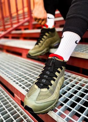 Nike air max sneakerboot 95 кроссовки хаки