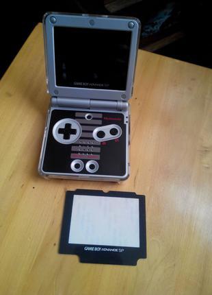 Пластик на экран (не стекло) Nintendo Gameboy SP GBA iQue 101 001