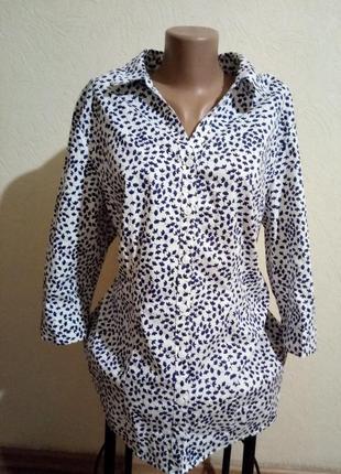 Красивая стильная катоновая рубашка от isle большой размер