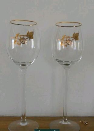 Бокалы свадебные для шампанского Bahemia