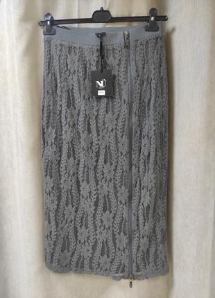 Гипюровая юбка карандаш на молнии nu denmark