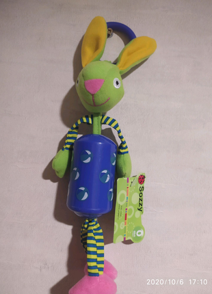 Игрушка-погремушка кролик