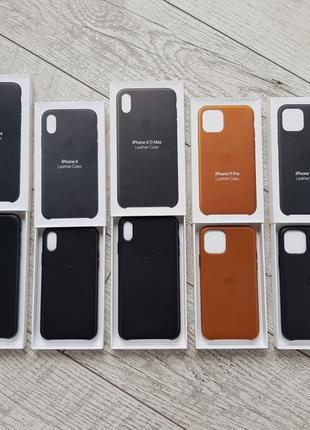 Оригинальный чехол leather case iphone 7/8 7/8+ X/Xs Xs Max 11...