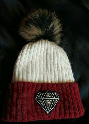 Теплая шапка новая