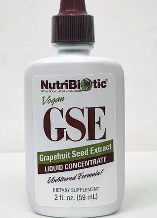 Экстракт семян грейпфрута NutriBiotic GSE, 59 мл