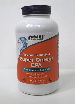 Рыбий жир Now Foods Super Omega EPA, Супер Омега-3 ЭПК, 240 капс