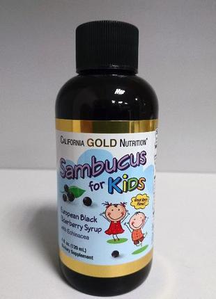 Бузина с эхинацеей для детей California Gold Nutrition, 120 мл