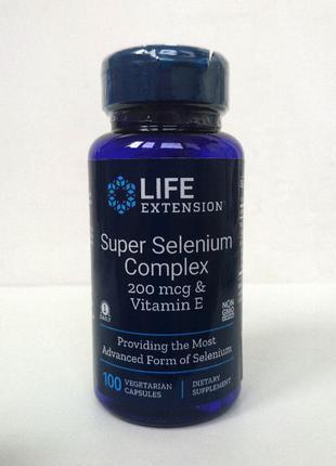 Супер комплекс селена Life Extension, 200 мкг, 100 капсул