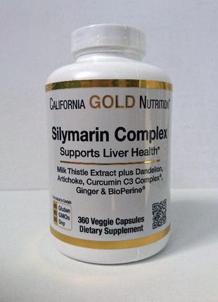 Силимарин комплекс California Gold Nutrition, 360 капсул