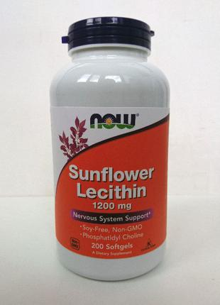 Подсолнечный лецитин Now Foods, 1200 мг, 200 капсул