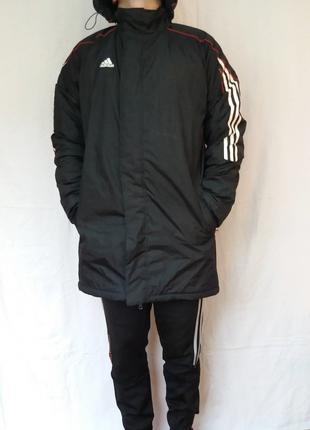 Куртка - Пальто Adidas зима (тёплая). Капюшон. Тренировочная