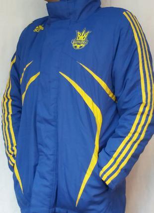 """Куртка - Пальто Adidas ретро """"Україна"""". Тёплая, тренировочная."""