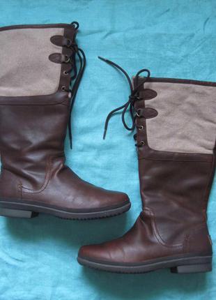 Ugg elsa (41) кожаные сапоги женские еврозима