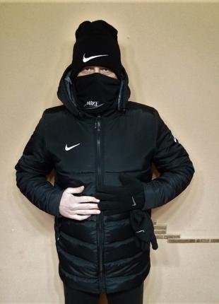Куртка Nike Пальто зима (Тёплая). Капюшон. Тренировочная