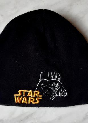 Черная шапка star wars бренда h&m швеция на мальчика 3-6 лет
