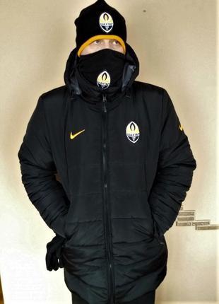 Куртка Шахтёр Пальто Nike Утеплённое. Капюшон. Тренировочная