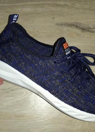 Кроссовки текстиль мокасины дышащие спорт