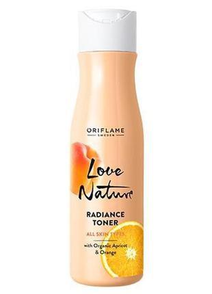 Обновляющий тоник для лица с органическим абрикосом и апельсин...