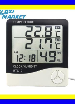 Термогигрометр Generic HTC-2 часы будильник метеостанция (термоме
