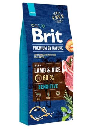 Корм для собак Brit Premium Sensitive Lamb