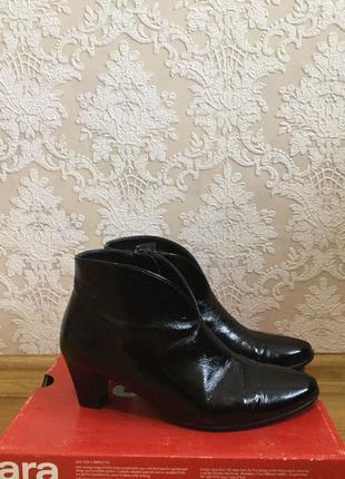 Ботинки лаковые ara 38 размер германия