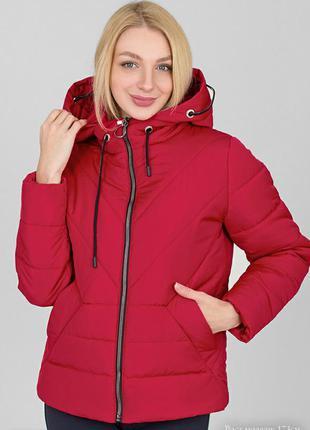 Куртка зимняя стёганая, пуховик с капюшоном