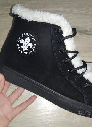 Высокие слипоны осень ботинки женские плоская подошва