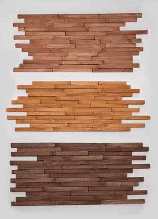 Дерев'яна декоративна стінова 3D мозаїка плитка 3Д AF-202