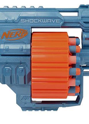 Нерф Ударная Волна + 30 пуль Nerf Elite 2.0 Shockwave RD-15 E9527