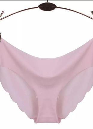 Женские трусики / трусы слипы бесшовные pink