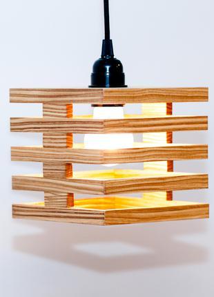 Дизайнерские светильники з дерева Люстра підвісний AF101 Дуб Ясен