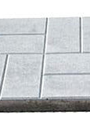 "Плитка тротуарная ""Паркет"" 400х400х50 мм серый."